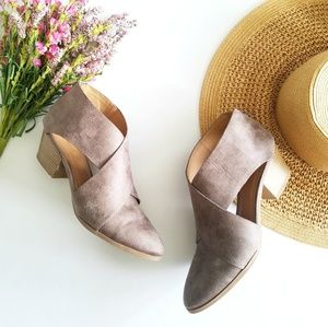 Qupid | Taupe Cutout Ankle Booties Size 8